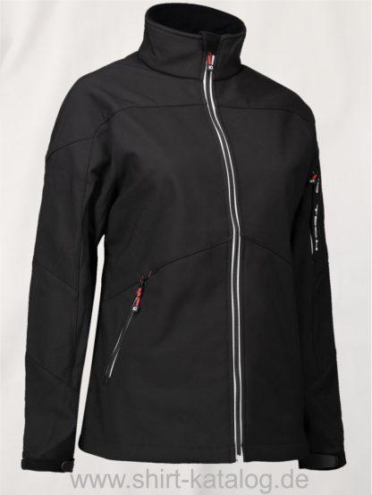 24688-Damen-Soft-Shell-Jacke-Kontrast-0873-Schwarz-Black