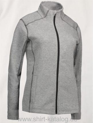 24702-ID-Identity-Damen-Cardigan-Kontrast-Jacke-0633-Grey-Melange-Graumeliert