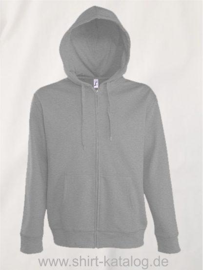 25846-Men-Hooded-Zip-Jacket-Seven-melange-grey