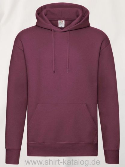 26040-fruit-of-the-loom-premium-hooded-heather-red