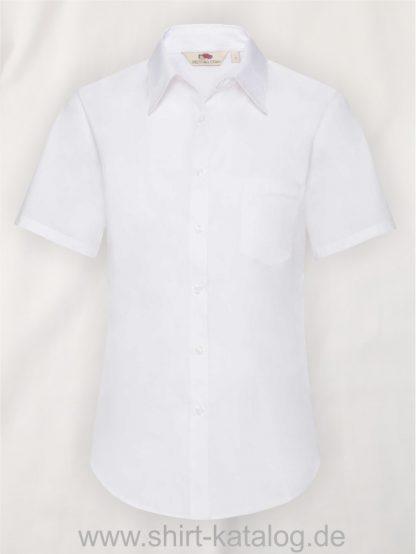 26041-Fruit-of-the-Loom-Short-Sleeve-Poplin-Shirt-Ladies-White