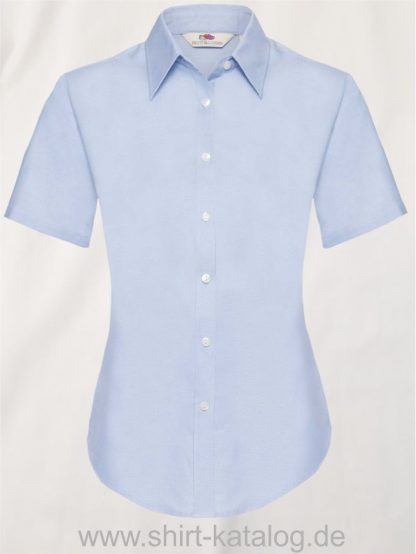 26045-Fruit-of-the-Loom-Short-Sleeve-Oxford-Shirt-Lady-Fit-Oxford-Blue