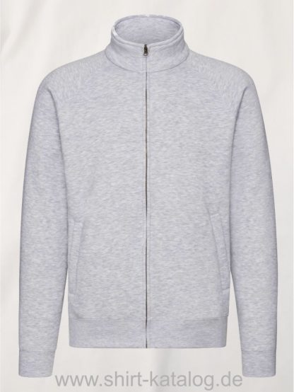 26049-fruit-of-the-loom-premium-sweatjacke-heather-grey