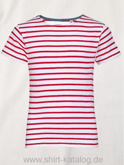 26161-Sols-Kids-Round-Neck-Striped-T-Shirt-Miles-White-Rot