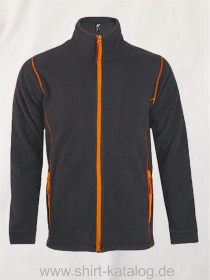 27516-Micro-Fleece-Zipped-Jacket-Nova-Men-charcoal-grey-orange
