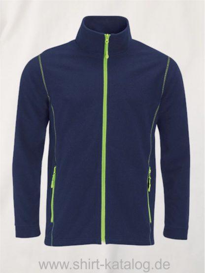 27516-Micro-Fleece-Zipped-Jacket-Nova-Men-navy-apple-green