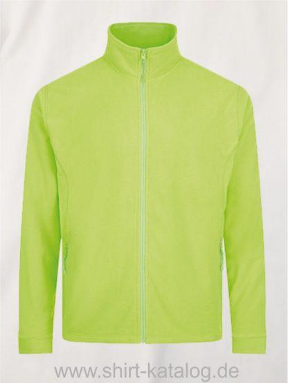 27516-Micro-Fleece-Zipped-Jacket-Nova-Men-neon-green