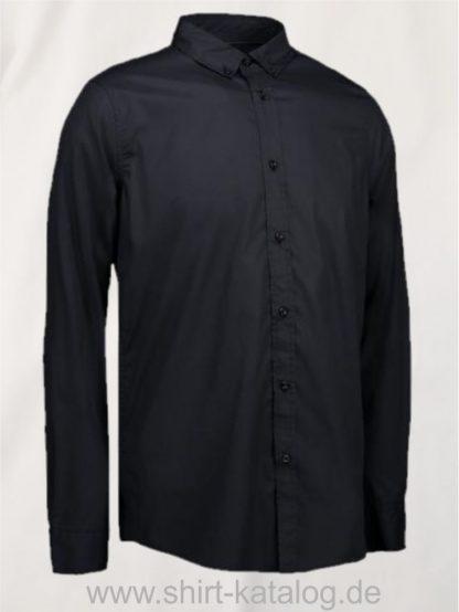 27602-ID-Identity-Casual Stretch Hemd-0240-Black