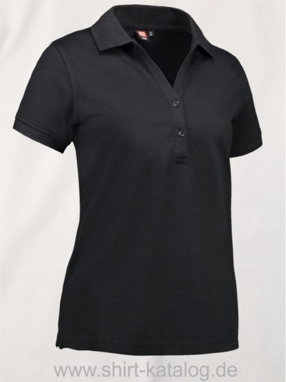 29331-ID-Identity-Piqué-Damen-Poloshirt-0561-Black