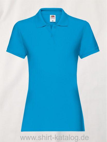 LADIES-PREMIUM-POLO-Azure-Blue