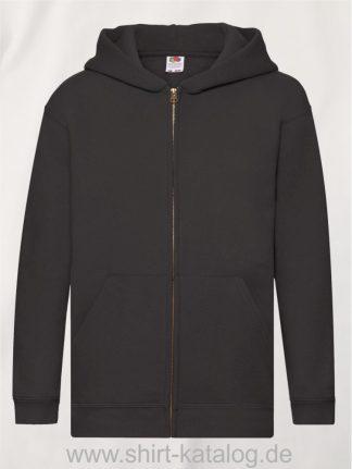 Premium-Hooded-Sweat-Jacket-Kids-Black