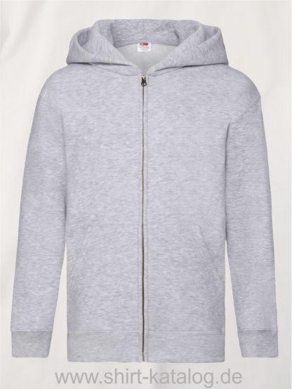Premium-Hooded-Sweat-Jacket-Kids-Heather-Grey