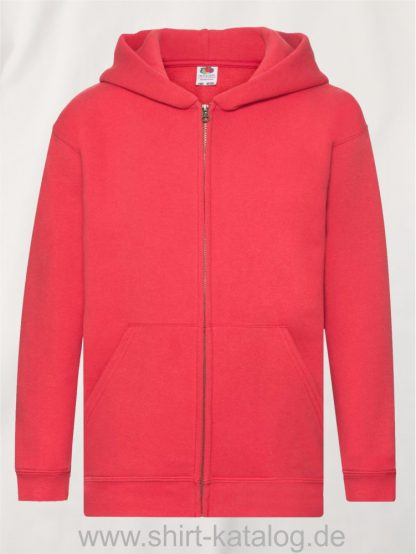 Premium-Hooded-Sweat-Jacket-Kids-Red