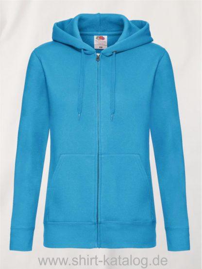 Premium-Hooded-Sweat-Jacket-Lady-Fit-Azure-Blue