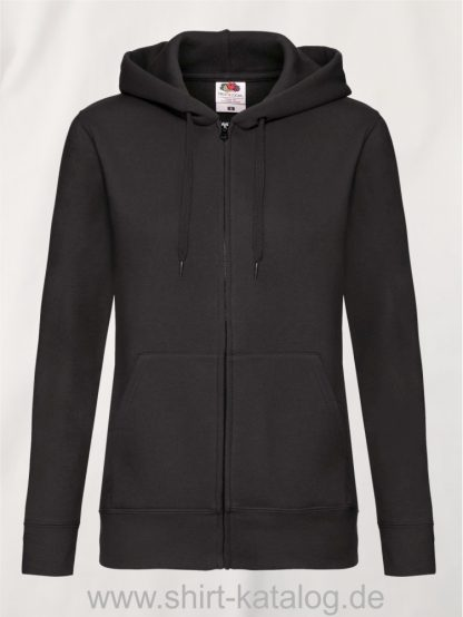 Premium-Hooded-Sweat-Jacket-Lady-Fit-Black