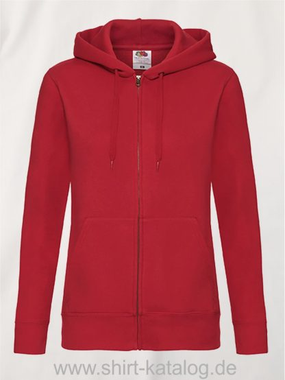 Premium-Hooded-Sweat-Jacket-Lady-Fit-Red