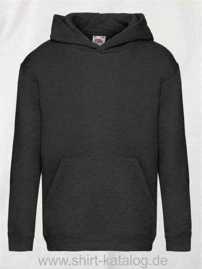 Premium-Hooded-Sweat-Kids-Black