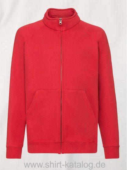 Premium-Sweat-Jacket-Kids-Red