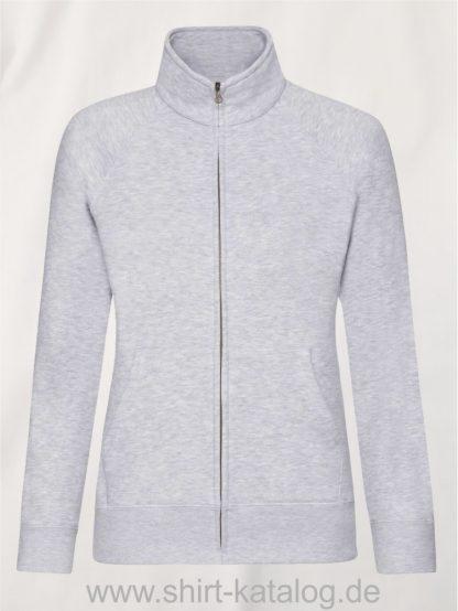 Premium-Sweat-Jacket-Lady-Fit-Heather-Grey