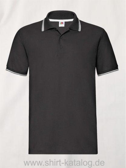 Tipped-Polo-Black-White