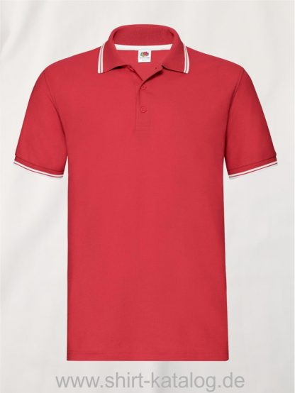 Tipped-Polo-Red-White