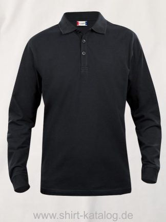 028233-clique-basic-polo-junior-longsleeve-black