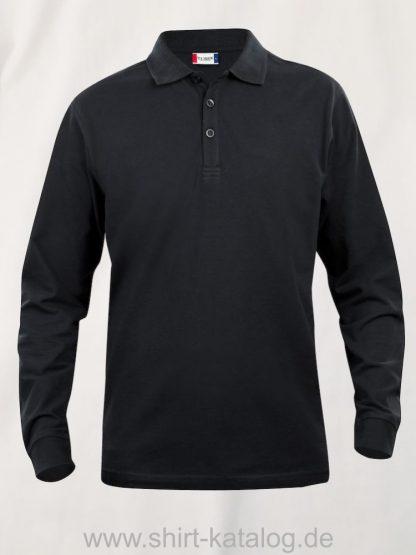 028233-clique-basic-polo-junior-longsleeve-black