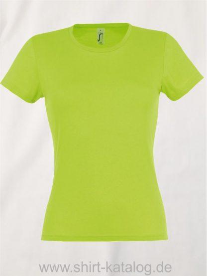 10128-Sols-Ladies-T-Shirt-Miss-Apple-Green