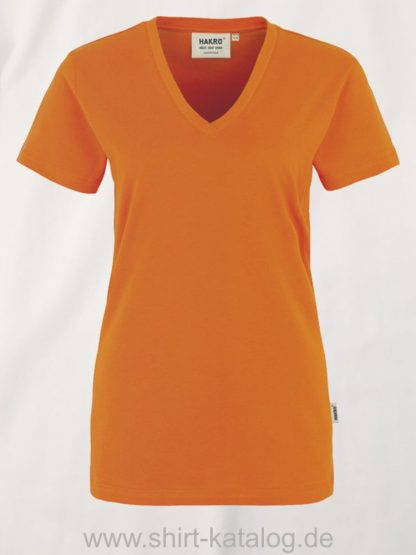 15892-hakro-women-v-shirt-classic-126-orange
