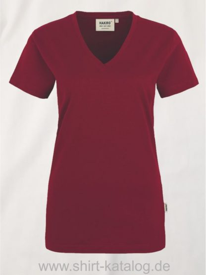 15892-hakro-women-v-shirt-classic-126-weinrot