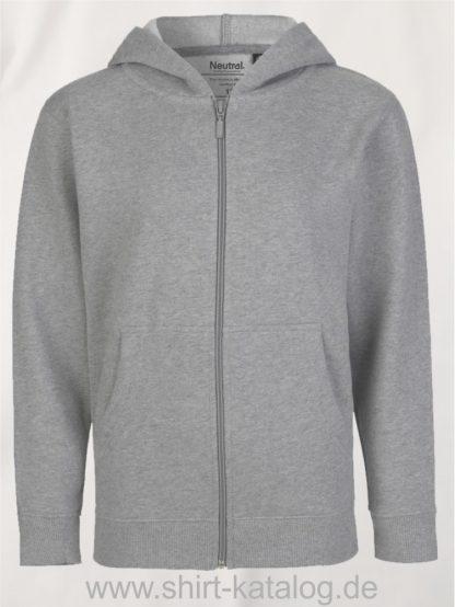 Kids-Zip-Hoodie-Sport Grey-NE13301