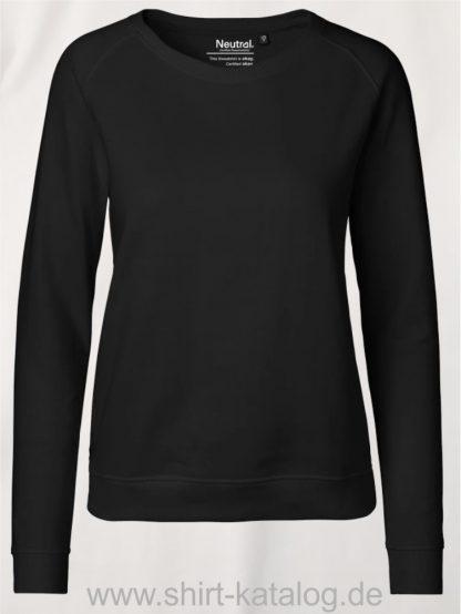 Ladies-Sweatshirt-Black-NE83001
