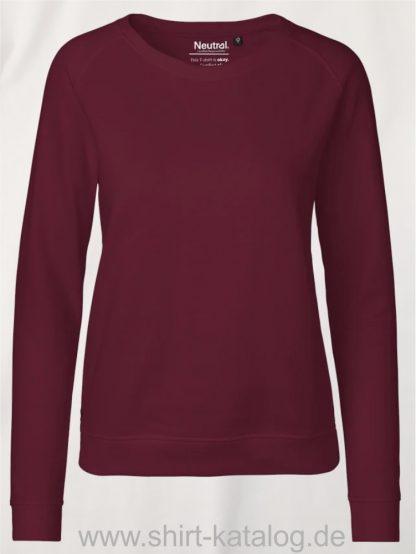Ladies-Sweatshirt-Bordeaux-NE83001