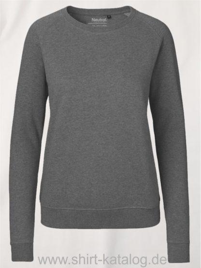 Ladies-Sweatshirt-Dark-Heather-NE83001