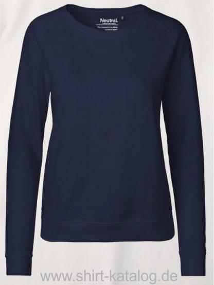 Ladies-Sweatshirt-Navy-NE83001