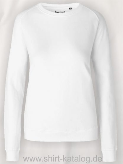 Ladies-Sweatshirt-White-NE83001