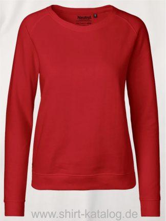 Ladies-Sweatshirt-red-NE83001