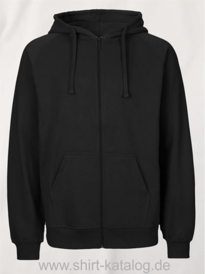 Mens-Zip-Hoodie-Black-NE63301