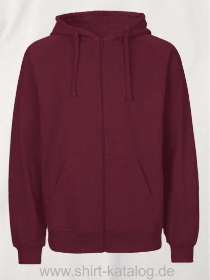 Mens-Zip-Hoodie-Bordeaux-NE63301