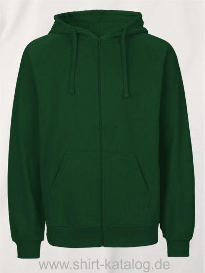 Mens-Zip-Hoodie-Bottle-Green-NE63301