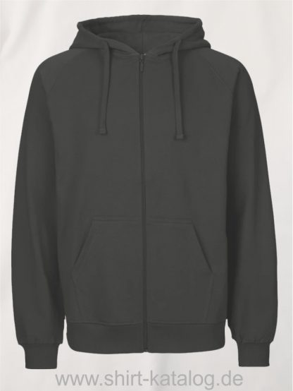Mens-Zip-Hoodie-Charcoal-NE63301
