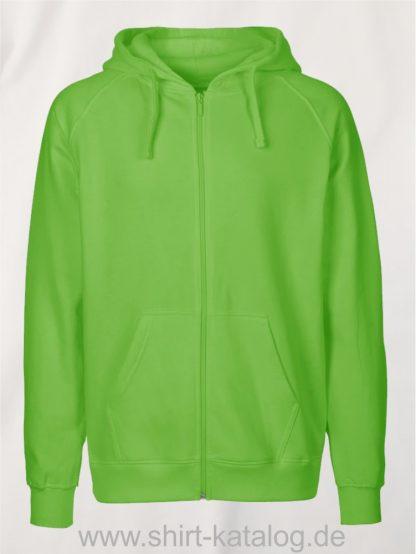 Mens-Zip-Hoodie-Lime-NE63301