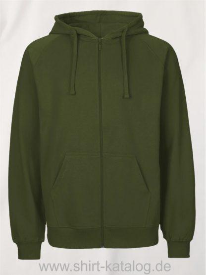 Mens-Zip-Hoodie-Military-NE63301