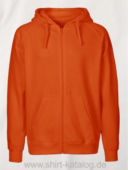 Mens-Zip-Hoodie-Orange-NE63301