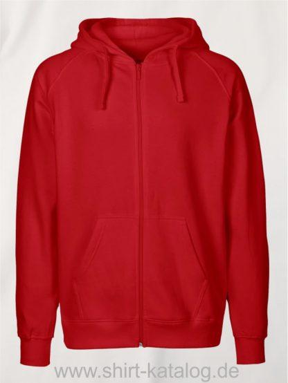 Mens-Zip-Hoodie-Red-NE63301