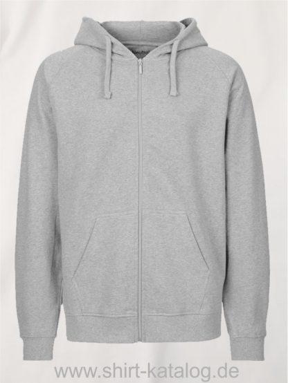 Mens-Zip-Hoodie-Sport-Grey-NE63301