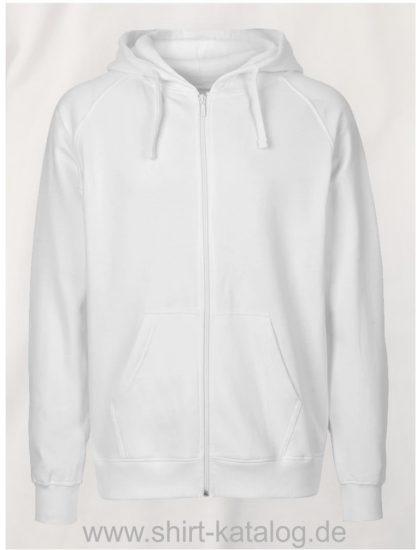 Mens-Zip-Hoodie-White-NE63301