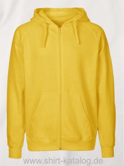 Mens-Zip-Hoodie-Yellow-NE63301