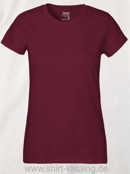 Neutral-Ladies-Classic-T-Shirt-Bordeux-NE80001
