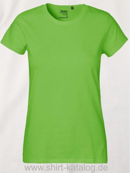 Neutral-Ladies-Classic-T-Shirt-Lime-NE80001